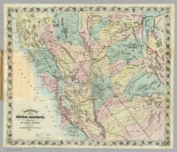 Bancroft's New Map Of Central California.