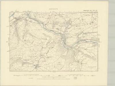 Montgomeryshire XXVI.NW - OS Six-Inch Map
