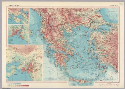 Albania, Greece.  Pergamon World Atlas.
