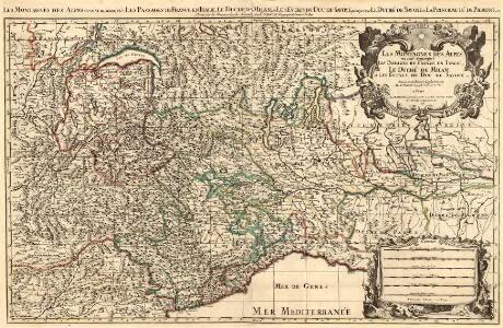 Les Montagnes des Alpes ou sont remarqués Les Passages France en Italie, Le Duché de Milan, et Les Estats du Duc de Savoye. &c.