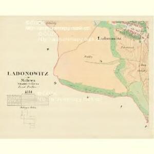 Ladonowitz - m1833-1-003 - Kaiserpflichtexemplar der Landkarten des stabilen Katasters
