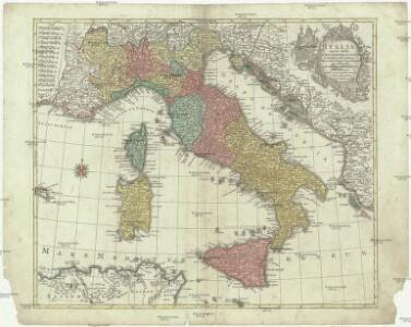 Italia annexis insulis Sicilia, Sardinia et Corsica