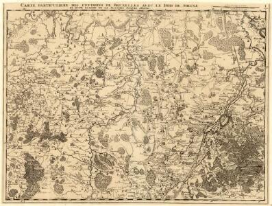 Carte Particuliere des environs de Bruxelles avec le Bois de Soigne et d'une partie de la Flandre jusques agand