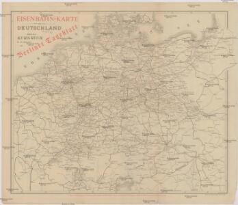 Eisenbahn-Karte von Deutschland