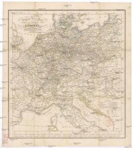 Neueste Post und Reise Karte der wichtigsten und besuchtesten Theile Europa's
