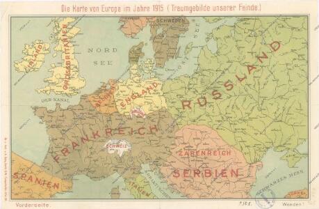 Die Karte von Europa...