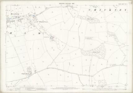 Essex (1st Ed/Rev 1862-96) XIV.14 (includes: Broxted; Chickney; Henham) - 25 Inch Map