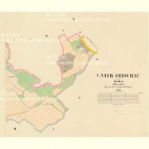Unter Grischau - c1386-1-003 - Kaiserpflichtexemplar der Landkarten des stabilen Katasters