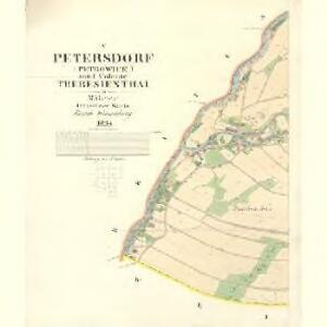 Petersdorf (Petrowice) - m2261-2-004 - Kaiserpflichtexemplar der Landkarten des stabilen Katasters