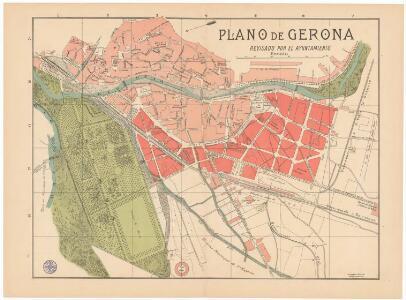 Plano de Gerona : revisado por el ayuntamiento