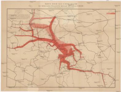 Karte über die Circulation der böhmischer Braunkohle während des Jähres 1869
