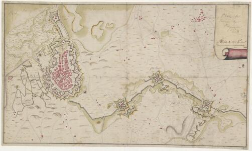 Plan des environs de Bergopzoom