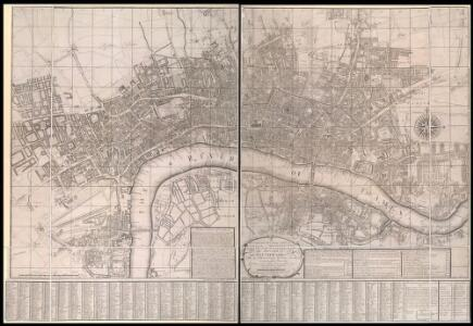 A New and Exact Plan of Ye City of London and Westminster, the Borough of Southwark, 1735