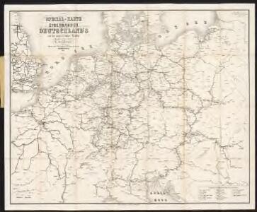 Special-Karte der Eisenbahnen Deutschlands und der angrenzenden Länder
