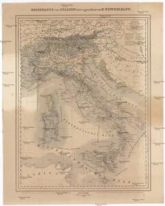Reisenkarte von Italien