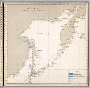 Ice Chart, Okhotsk Sea Region, August.