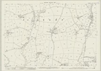 Cornwall XLVIII.16 (includes: Kenwyn; St Allen; St Erme) - 25 Inch Map