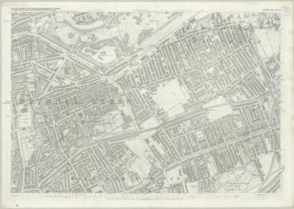 London (First Editions c1850s) XXVIII (includes: Bethnal Green; Hackney; Poplar Borough; Stepney) - 25 Inch Map