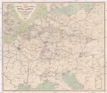Special-Karte der Eisenbahn- Post- u[nd] Dampfschiff-Verbindungen Mittel-Europa's