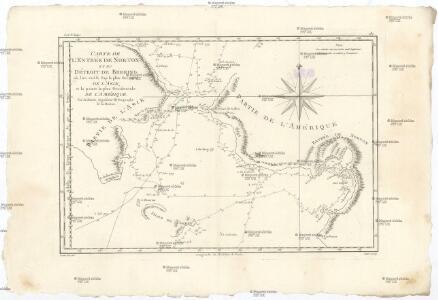 Carte de l'entrée de Norton et du Détroit de Bhering, ou l'on voit le cap le plus oriental de l'Asie, et la pointe la plus occidentale de l'Amérique