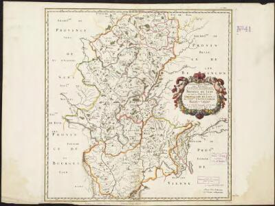 Lugdunensis Prima, cujus metropolis Lugdunum Segusianorum : Province de Lyon ou sont les dioeceses de l'Archevesche de Lyon, et des Evesches d'Autun, Chailon, Mascon, et Langres