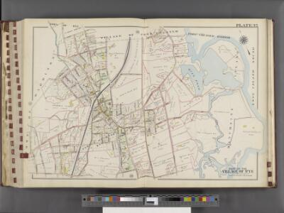 Westchester, V. 1, Double Page Plate No. 35 [Map bounded by Town of Rye, Village of Port Chester, Long Island Sound, Apawamis Ave., North St., Town of Harrison]