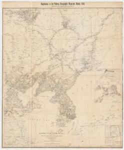 Map of Korea and Manchuria