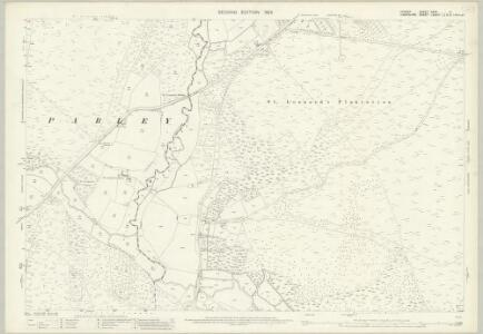Dorset XXXV.4 (includes: Hurn; St Leonards and St Ives; West Parley) - 25 Inch Map
