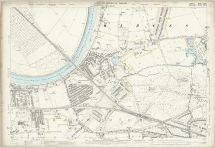 London (Edition of 1894-96) XCVIII (includes: Barnes; Mortlake; Wandsworth Borough) - 25 Inch Map