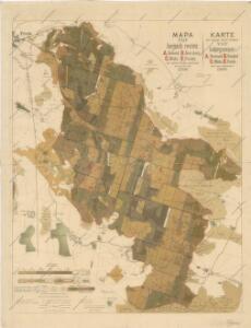 Mapa čtyř horních revírů kr. městu Písku patřících