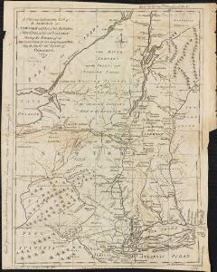 A new and accurate map of the province of New York and part of the Jerseys, New England and Canada, shewing the scenes of our military operations during the present war, also the new erected state of Vermont
