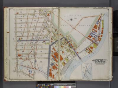 Queens, V. 2, Double Page Plate No. 4; Part of Long Island City, Ward 1; [Map bounded by Van Pelt St., Newtown Creek, Dutch Kills Canal, Nelson Ave.] / by and under the supervision of Hugo Ullitz.