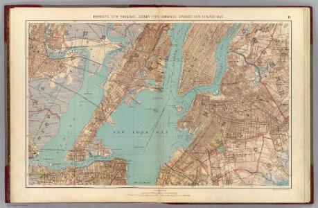 Brooklyn, N.Y. Bay, Jersey City, Hoboken, Bayonne, Newark Bay.
