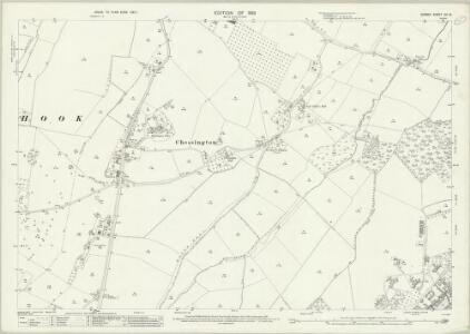 Surrey XII.16 (includes: Chessington; Hook) - 25 Inch Map