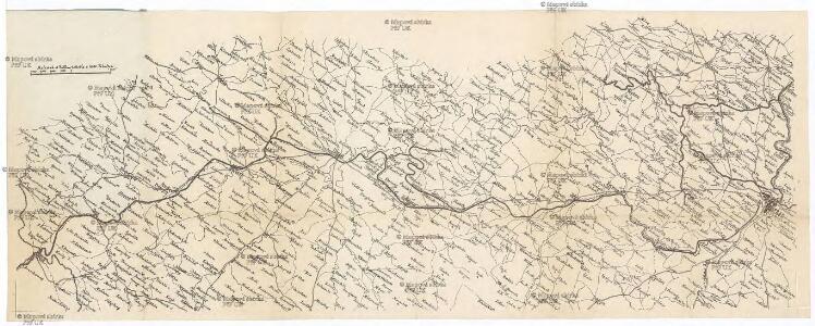 Fahr-Plan der Strecke Prag, Pilsen, Furth, München
