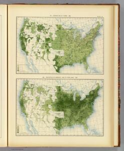 44. Size of farms, improved land 1890.
