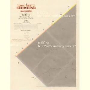 Schweine (Swinow) - m1030-1-002 - Kaiserpflichtexemplar der Landkarten des stabilen Katasters