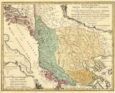 Mappa Geographica Graeciae Septentrionalis Hodiernae, sive Provinciarum Macedoniae, Thessaliae et Albaniae