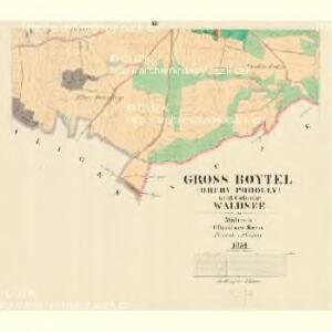 Gross Boytel (Hruby Podolly) - m2328-1-003 - Kaiserpflichtexemplar der Landkarten des stabilen Katasters
