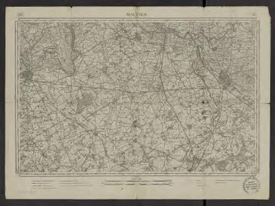 [Carte de la Belgique au 1:60 000]. 23, Malines