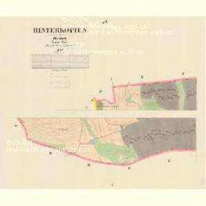 Hinterkotten - c9025-1-001 - Kaiserpflichtexemplar der Landkarten des stabilen Katasters