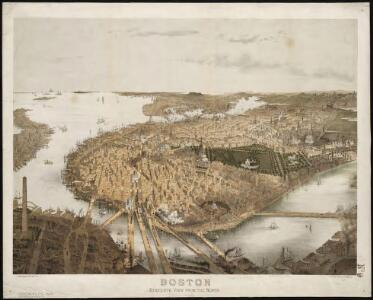 Boston: Bird's-eye view from the North