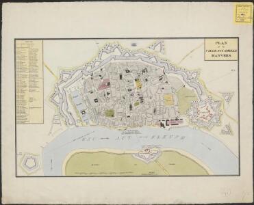 Plan de la ville et citadelle d'Anvers