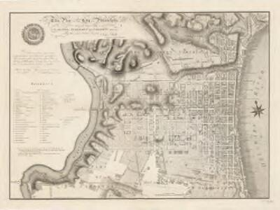 This plan of the city of Philadelphia and it's environs (shewing the improved parts) is dedicated to the mayor, aldermen and citizens thereof