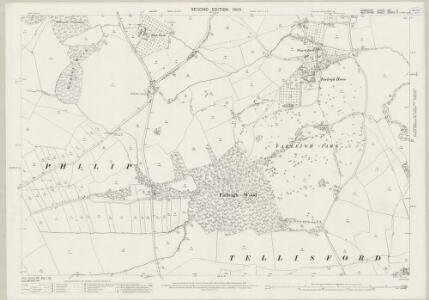 Somerset XXI.11 (includes: Norton St Philip; Tellisford; Wingfield) - 25 Inch Map