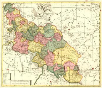 Mappa Geographica Exactissima, Continens Imperatoris Haereditarium Dominium Silesiam, nec non eiusdem Provincias interiores Ducatus, Comitatus, Baronatus etc