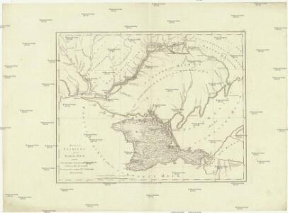 Karte Tauriens oder der Halbinsel Krim und der westlichen nogayischen Tatarei