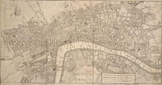 A New and Correct PLAN of LONDON, WESTMINSTER and SOUTHWARK, with several Additional Improvements, not in any former Survey