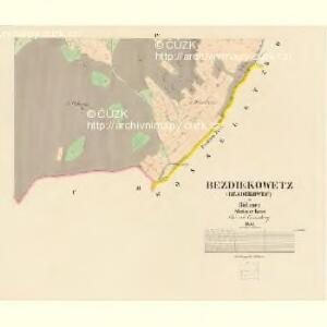 Bezdiekowetz (Bezděkowec) - c0160-1-003 - Kaiserpflichtexemplar der Landkarten des stabilen Katasters