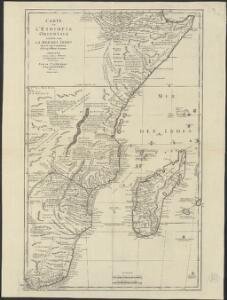 Carte de l'Ethiopie Orientale située sur la Mer des Indes entre la Cap Guardasouin, & le Cap de Bonne Esperance